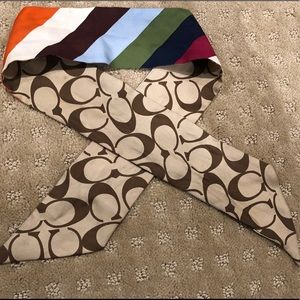 Coach Reversible Silk Scarf